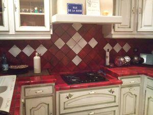 Carrelage rouge vesuve salle de bains cuisine - Faience cuisine rouge et blanc ...