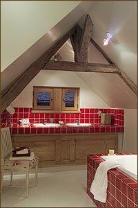 Carrelage 11 x 11 Rouge Cerise - Cuisine - Salle de Bains - Faïence ...